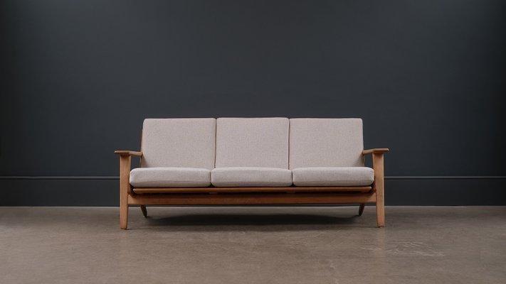 Scandinavian Modern Danish Oak Sofa By