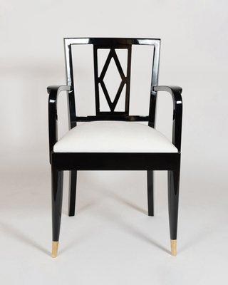 Admirable Black White Dining Chairs From De Coene 1940S Set Of 4 Creativecarmelina Interior Chair Design Creativecarmelinacom