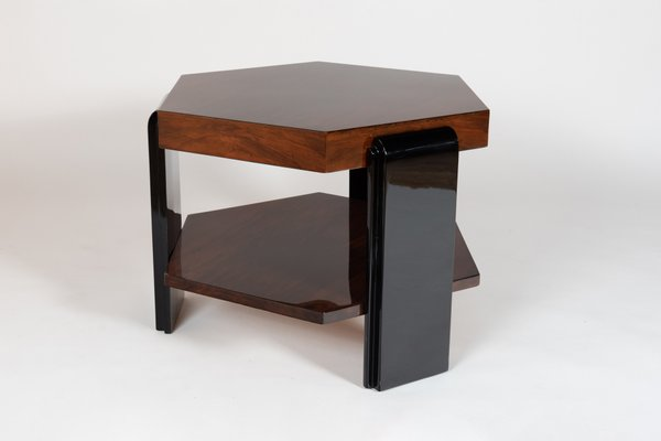 Table Basse Hexagonale en Palissandre de Rio, 1930s
