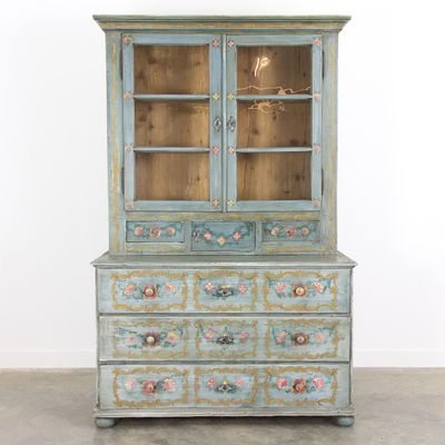 Antique Hand Painted Buffet Cabinet 1