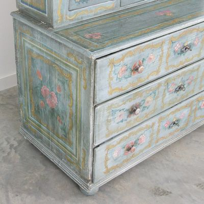 Antique Hand Painted Buffet Cabinet