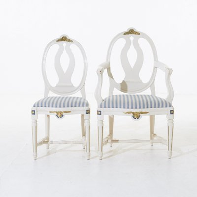 Gustavian Dining Room Chairs 1890s Set Of 6 For Sale At Pamono