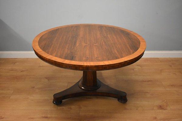 Mesa de comedor victoriana antigua de palisandro y madera satinada ...