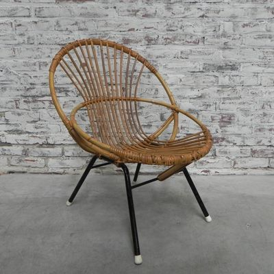 Vintage Rattan Chair From Rohe Noordwolde 1