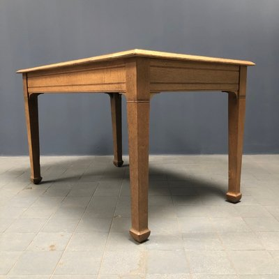 French Light Oak Kitchen Table 1940s