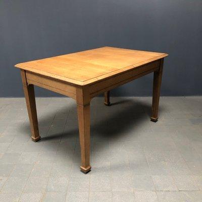 Tavolo da cucina in legno di quercia chiaro, Francia, anni \'40