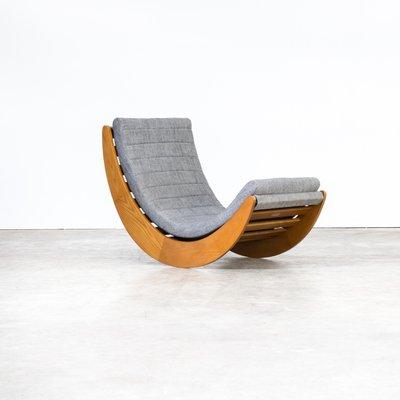 Sedie A Dondolo Design.Sedia A Dondolo Vintage Di Verner Panton Per Matzform