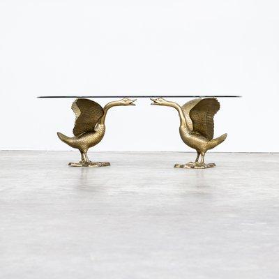 Avec Verre1970s En Goose Sculpturale Table Plateau Basse Ajq4L35R