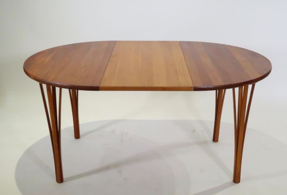 Round Extendable Teak Dining Table From Haslev Møbelsnedkeri, 1960s