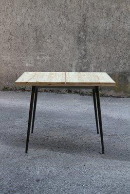 Table De Salle A Manger Carree Industrielle Vintage 1960s En