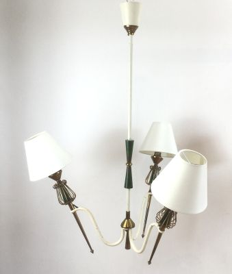 French Pendant Lamps By Maison Lunel 1950s Set Of 2