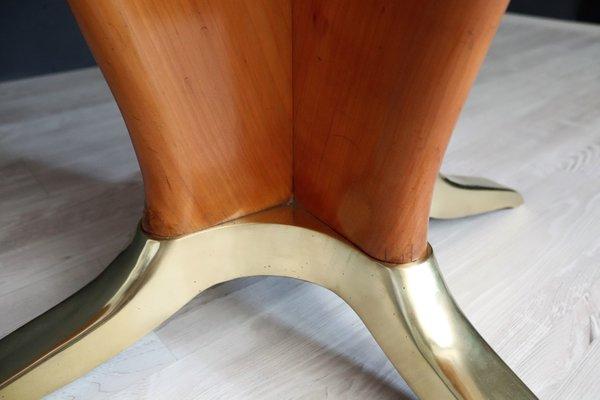 Tavolo In Legno Di Ciliegio.Tavolo Da Pranzo In Legno Di Ciliegio E Marmo Rosa Italia Anni 50