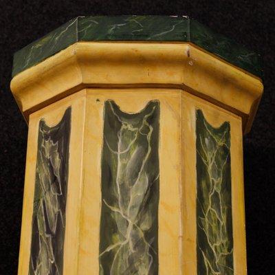 Colonne in legno laccato, Italia, anni \'60, set di 2