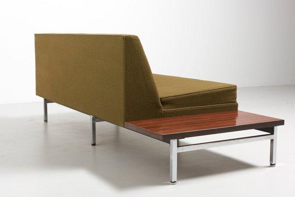 Sofa Con Mesa Auxiliar De Palisandro De George Nelson Para Herman Miller Anos 50