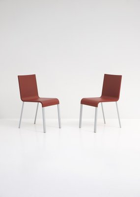Fine Polyurethane Dining Chairs By Maarten Van Severen For Vitra 2000S Set Of 2 Bralicious Painted Fabric Chair Ideas Braliciousco