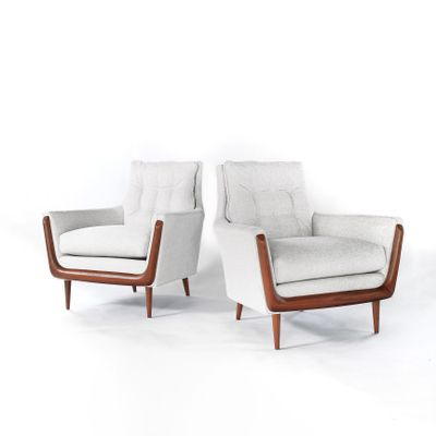 Marvelous Mid Century Gondola Style Lounge Chairs From Deville Set Of 2 Pdpeps Interior Chair Design Pdpepsorg