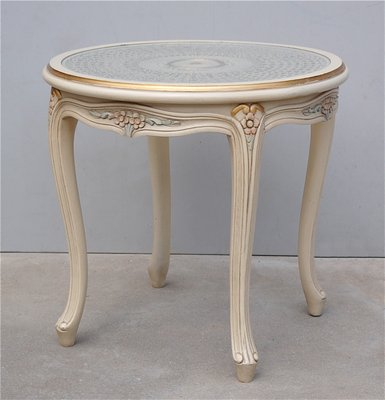 Magnificent Vintage French Provincial Side Table With Cane Top Bralicious Painted Fabric Chair Ideas Braliciousco