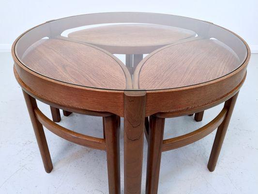 Table Tables 3 Gigognes Nathan1960s En Set De Basse Verre Et 8PkXO0wn