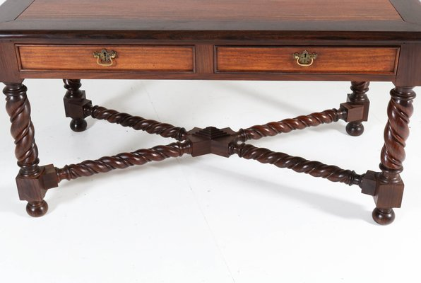 Magnificent Antique Jacobean Style Brass And Padouk Desk Ibusinesslaw Wood Chair Design Ideas Ibusinesslaworg