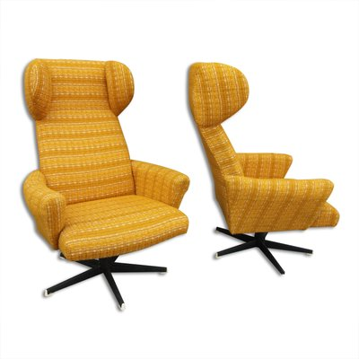 Awesome Wingback Swivel Chairs From Drevotvar 1970S Set Of 2 Cjindustries Chair Design For Home Cjindustriesco