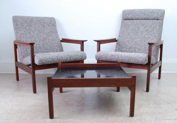 Cool Mid Century Coffee Table 2 Kyoto Armchairs Set By Guy Rogers 1960S Andrewgaddart Wooden Chair Designs For Living Room Andrewgaddartcom