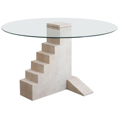 Beau French Limestone Round Staircase Table By Rooms