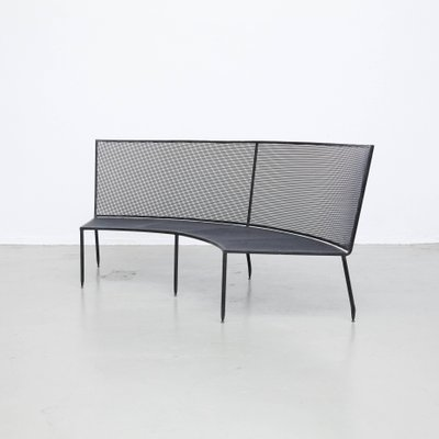 Admirable Mid Century Formalist Black Lacquered Curved Metal Bench By Mathieu Mategot For Ateliers Mategot Spiritservingveterans Wood Chair Design Ideas Spiritservingveteransorg