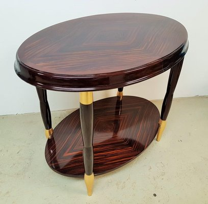 Art Deco Ebony And Gold Leaf Side Table 1920s