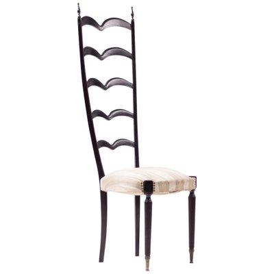 Sedia con schienale alto di Paolo Buffa per Marelli & Colico, anni \'50