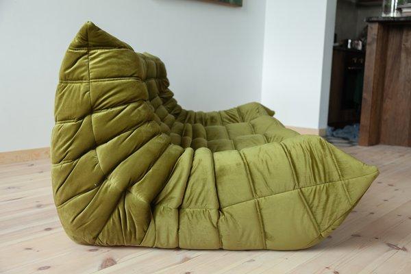 Pleasant Green Velvet Togo 3 Seater Sofa By Michel Ducaroy For Ligne Roset 1970S Inzonedesignstudio Interior Chair Design Inzonedesignstudiocom