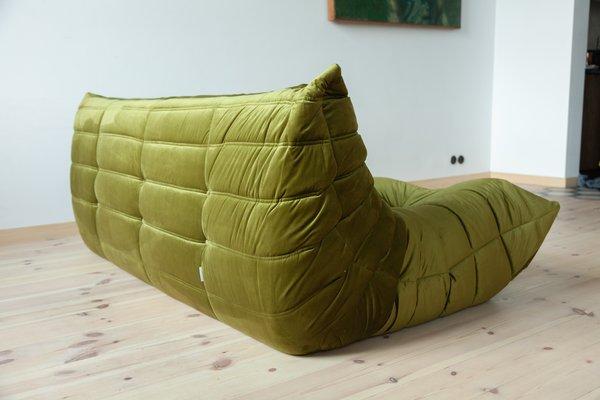 Incredible Green Velvet Togo 3 Seater Sofa By Michel Ducaroy For Ligne Roset 1970S Inzonedesignstudio Interior Chair Design Inzonedesignstudiocom