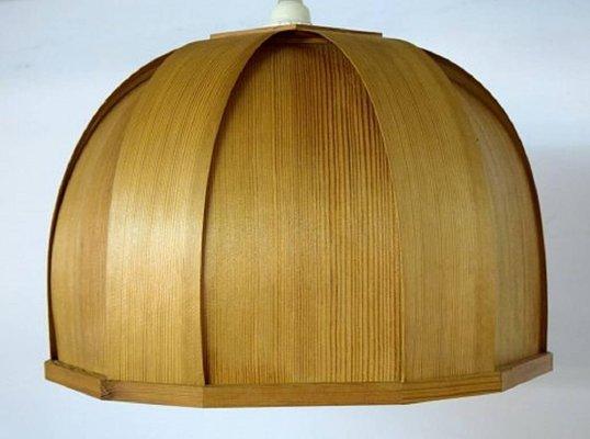Vintage Ellysett Deckenlampe Aus Holz Von Hans Agne Jakobsson Bei