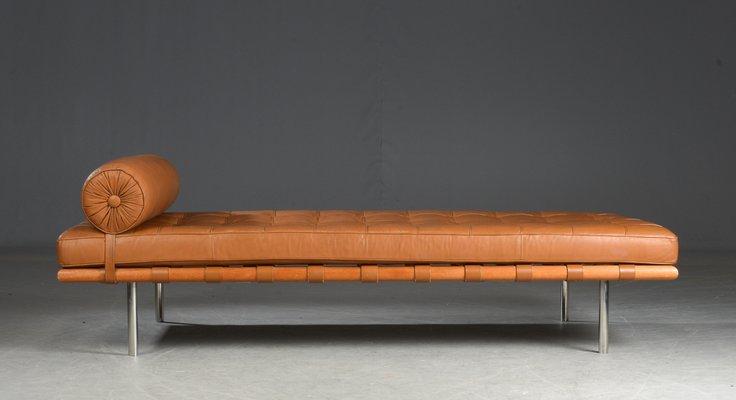Vintage Barcelona Tagesbett aus Leder von Ludwig Mies van