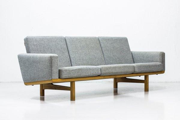 Danish Ge236 Wood Wool Sofa By Hans J Wegner For Getama 1950s