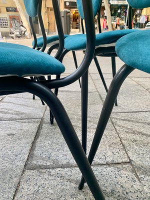 Sedie In Ferro E Legno.Sedie Da Pranzo In Ferro E Legno Francia Anni 60 Set Di In