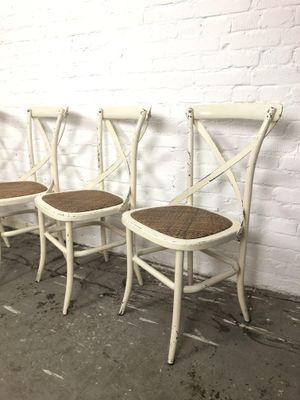 Sedie Da Giardino Legno.Sedie Da Giardino Mid Century In Metallo E Legno Set Di 4 In
