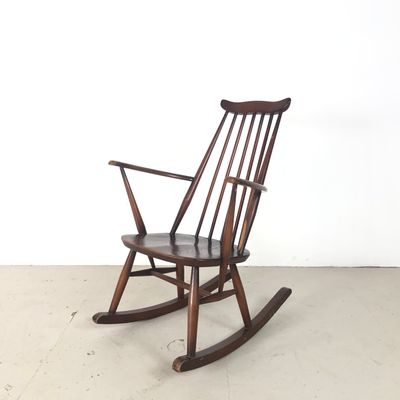 Remarkable Mid Century Elm Rocking Chair By Lucian Ercolani For Ercol 1960S Gmtry Best Dining Table And Chair Ideas Images Gmtryco