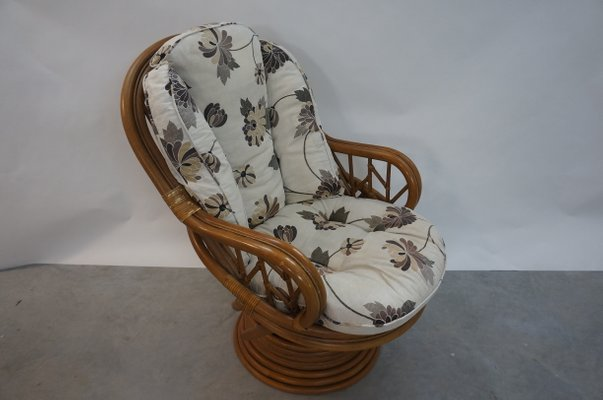 Excellent Vintage Rattan Swivel Chair 1970S Cjindustries Chair Design For Home Cjindustriesco
