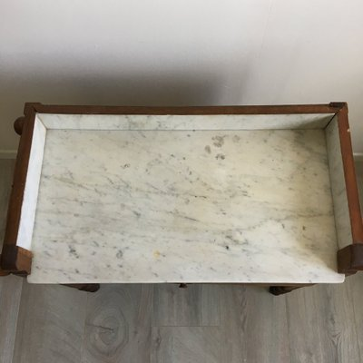 the latest 11c8c b1e3b Antique Wood and Marble Dressing Table