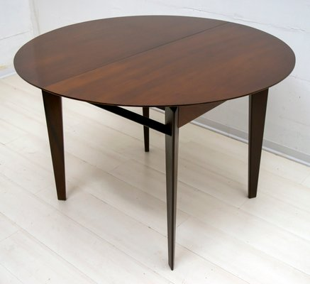 Round Italian Teak Dining Table By Vittorio Dassi, 1950s