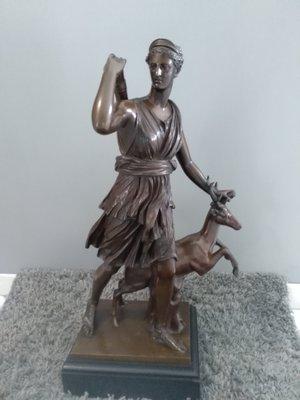 Huntress Diana Art Nouveau Museum Bronze Sculpture Statue Figurine Figure Sale