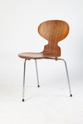 Chaise De Salle A Manger Scandinave Modele 3100 En Palissandre Par Arne Jacobsen Pour Fritz Hansen Danemark 1950s