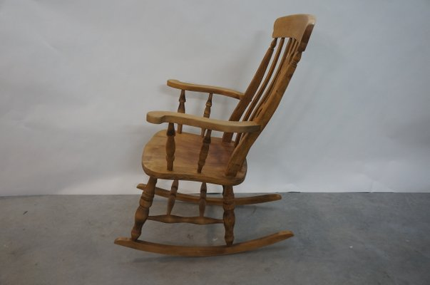 Excellent Vintage English Wooden Rocking Chair 1970S Frankydiablos Diy Chair Ideas Frankydiabloscom