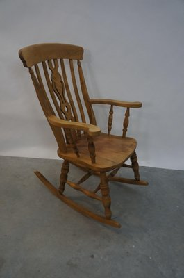 Vintage English Wooden Rocking Chair