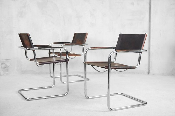 Wondrous Bauhaus Mg5 Chairs By Matteo Grassi 1960S Set Of 4 Short Links Chair Design For Home Short Linksinfo