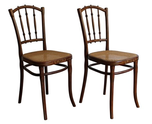 Gorgeous Set of Three Mid-century Modern Dining Chairs by Thonet Refinished /& Reupholstered in Designtex!