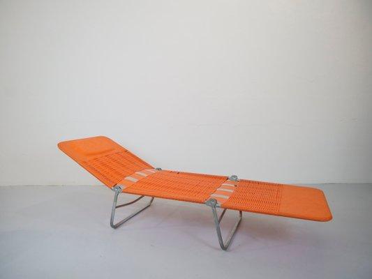German Metal And Plastic Garden Lounger From Kurz Gartenmobel 1960s