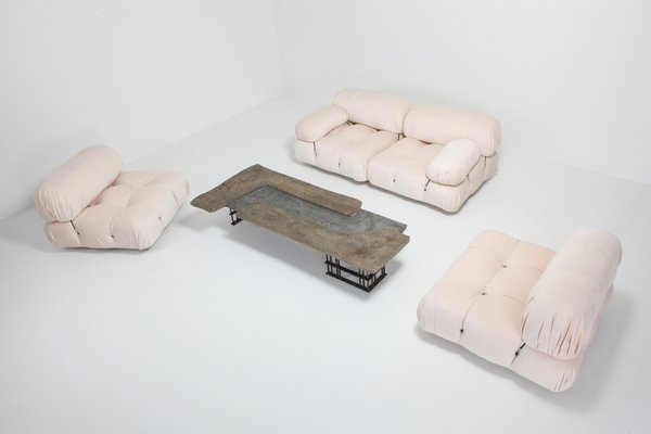 Miraculous Vintage Nude Rose Velvet Camaleonda Sectional Sofa By Mario Bellini Gamerscity Chair Design For Home Gamerscityorg
