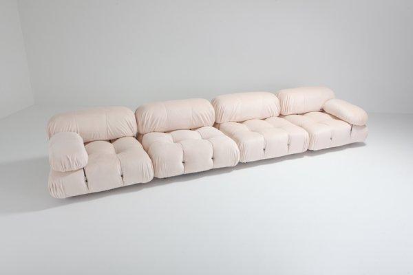 Miraculous Vintage Nude Rose Velvet Camaleonda Sectional Sofa By Mario Bellini Bralicious Painted Fabric Chair Ideas Braliciousco