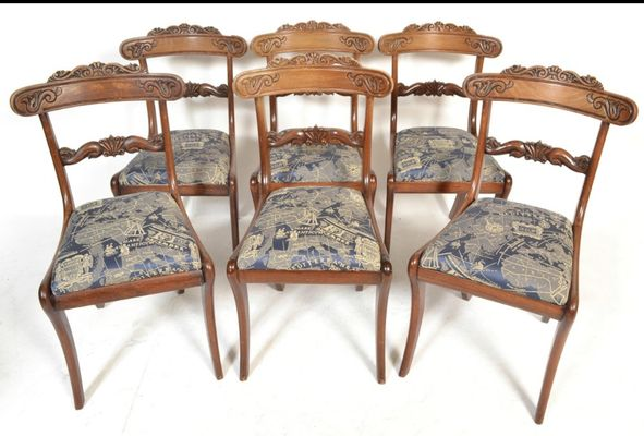 Astounding Antique Mahogany Dining Chairs Set Of 6 Pabps2019 Chair Design Images Pabps2019Com